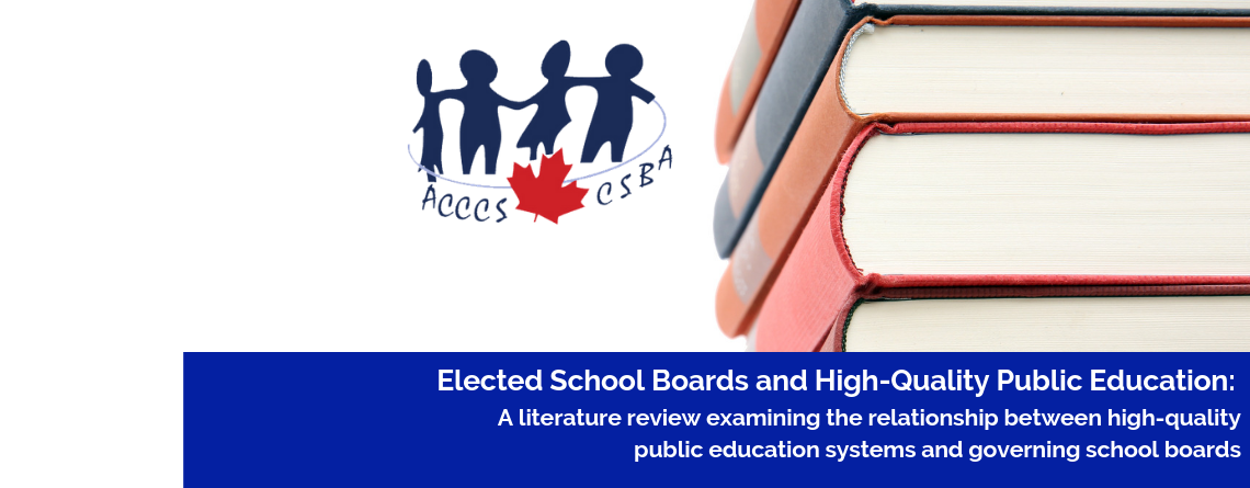 Literature review on the linkages between high-quality public education and  governing school boards published by national association