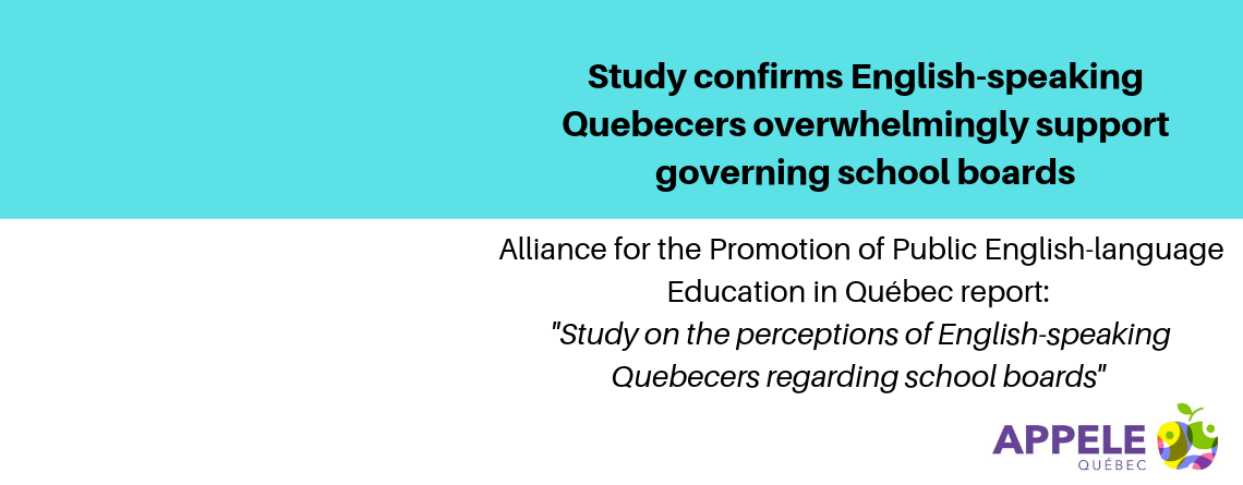 Study confirms English-speaking Quebecers overwhelmingly support governing school board