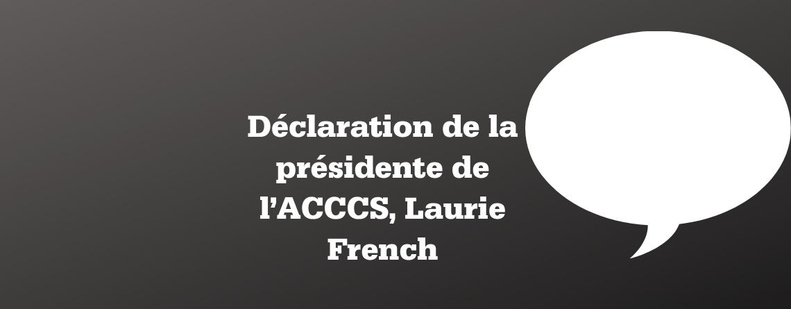 Déclaration de la présidente de l'ACCCS suite à l'intention du gouvernement du Québec d'abolir les commissions scolaires francophones