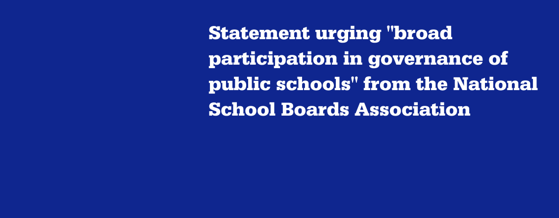 Statement from the National School Boards Association