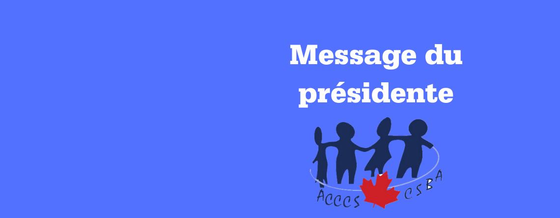 Covid-19: Message du présidente