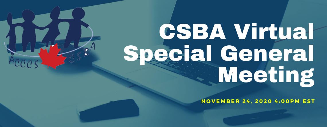 CSBA Virtual Special General Meeting – CSBA Constitution Changes