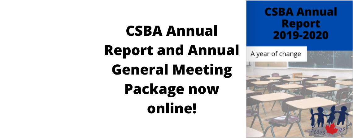 CSBA Annual Report & AGM Package