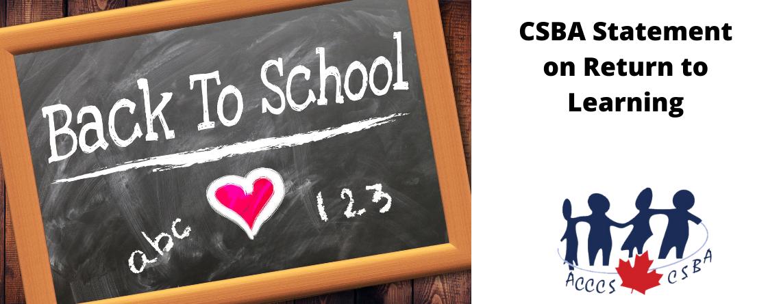 CSBA Statement on Return to School